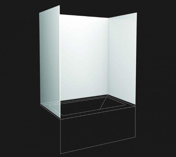 """assk6036 – acrylic wall panel kit for 60"""" skirted tubs"""
