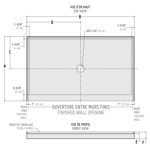 coming soon abf b in line center drain bases wallsshower base1
