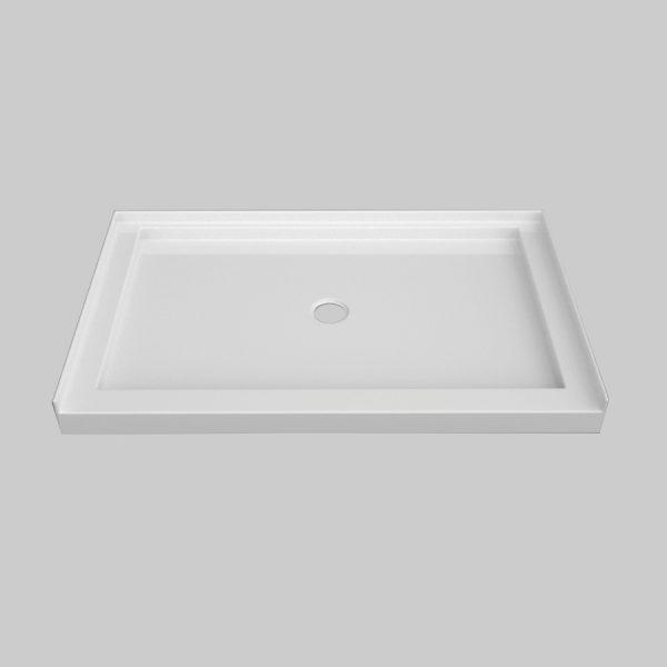 low profile single threshold shower base