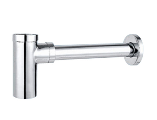 a decorative horizontal square siphon for basin (a186cp) basin drains