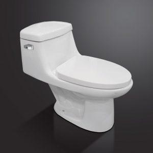 VA-8811-128WHT – Single Flush 1-Piece Toilet